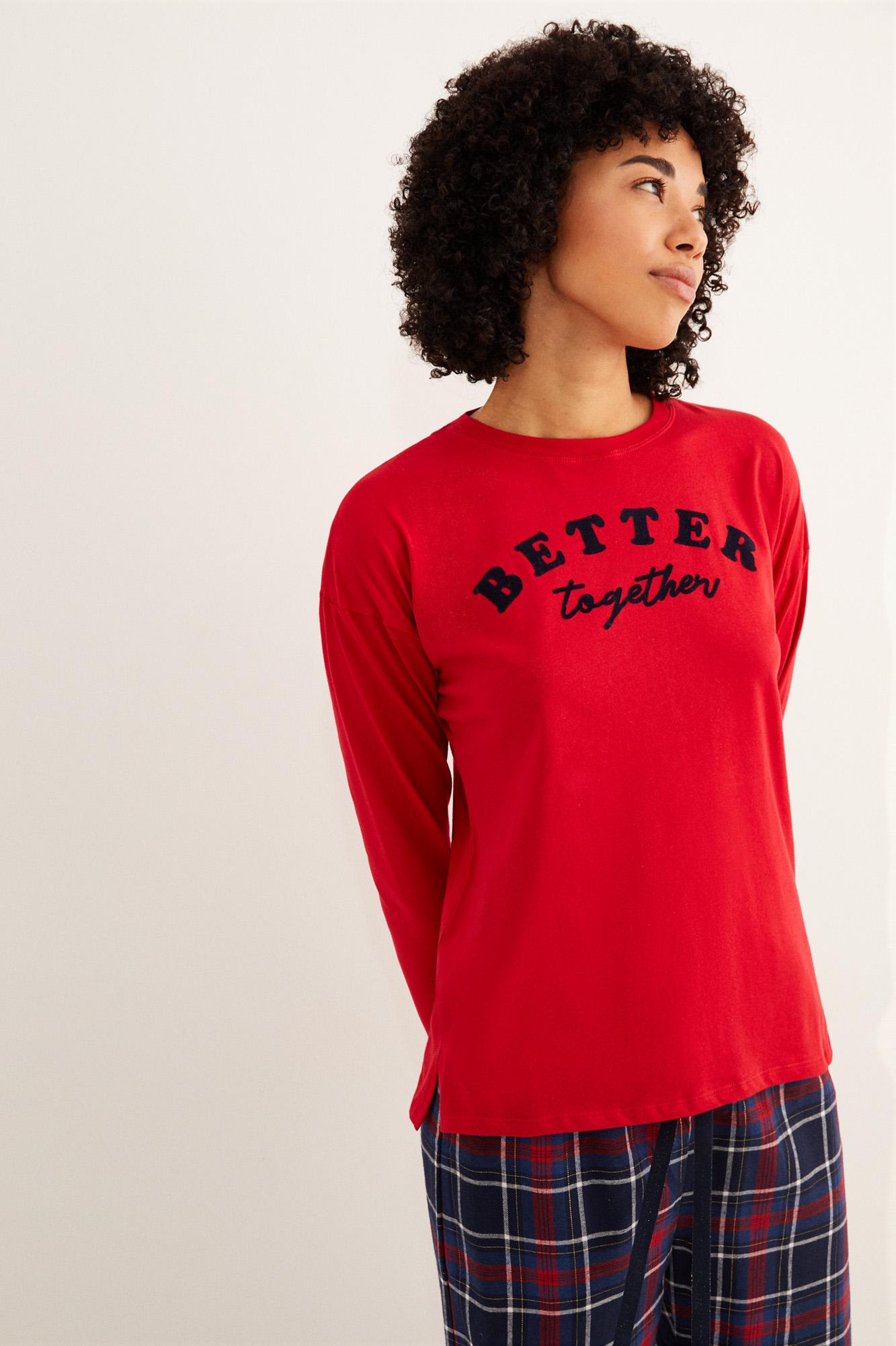 Camiseta manga larga Better Together roja