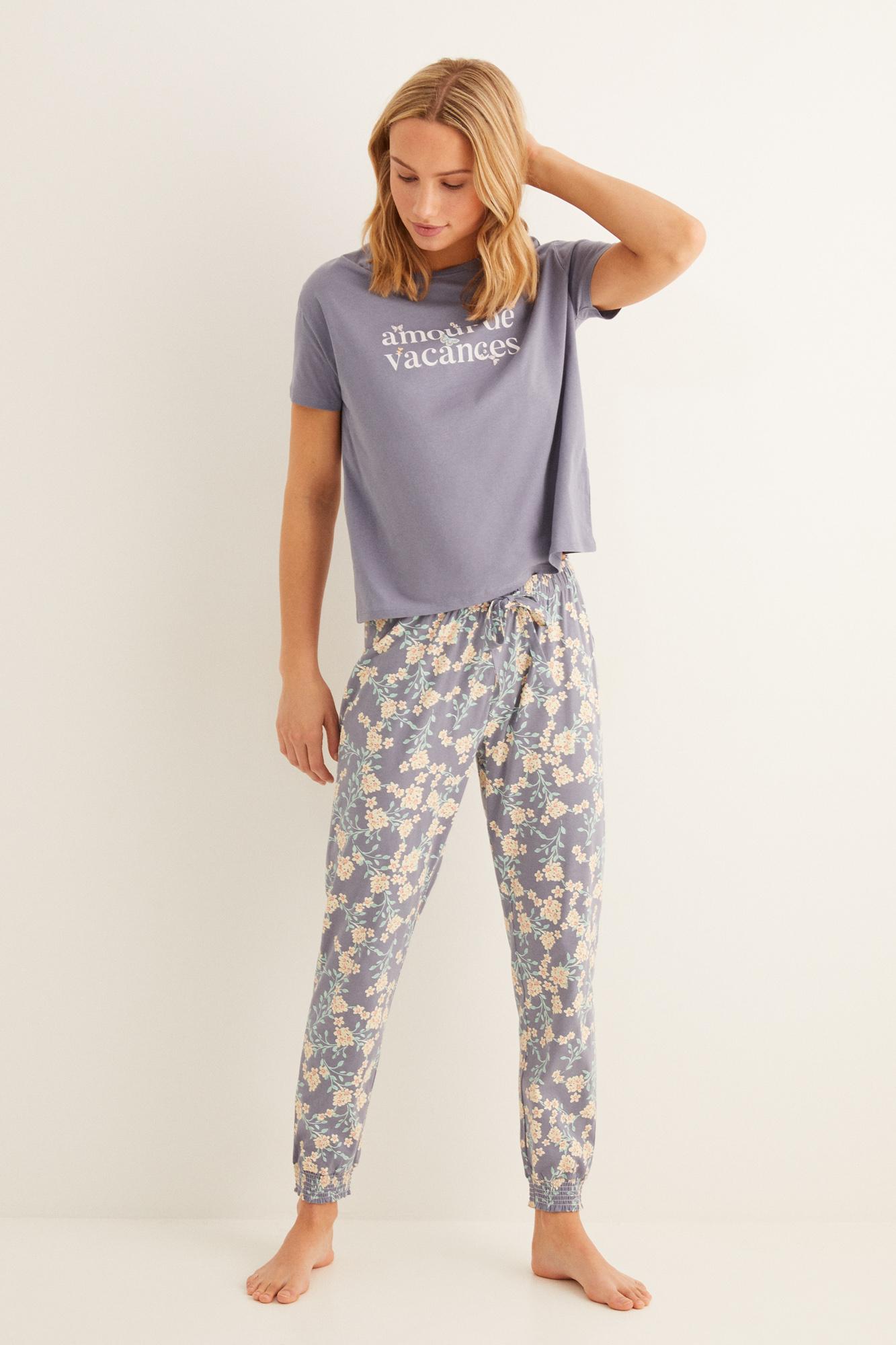 Pijama largo algodón