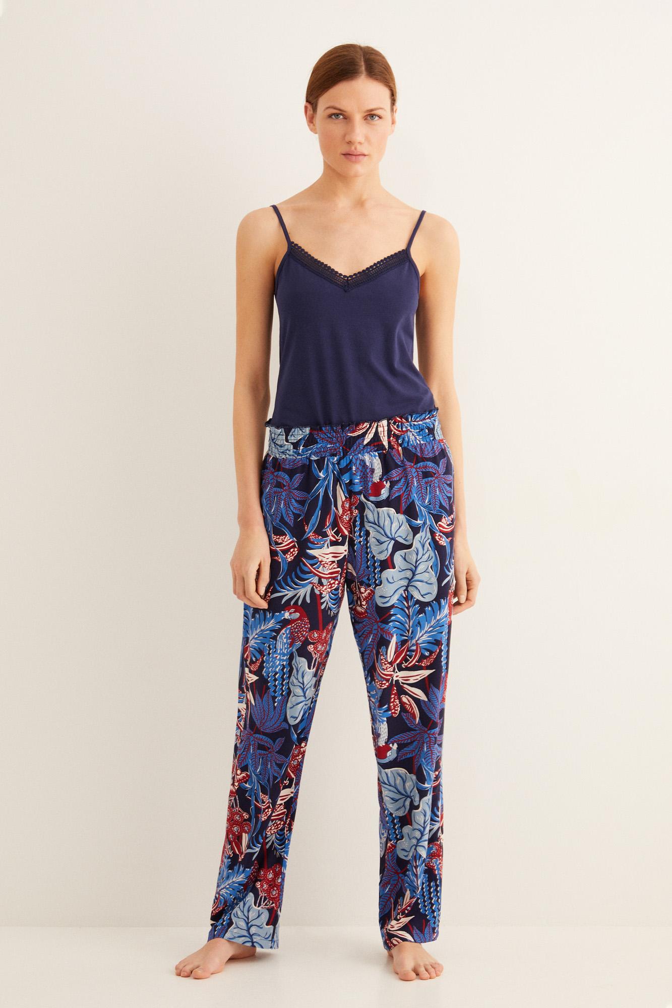 Pantalón pijama largo estampado