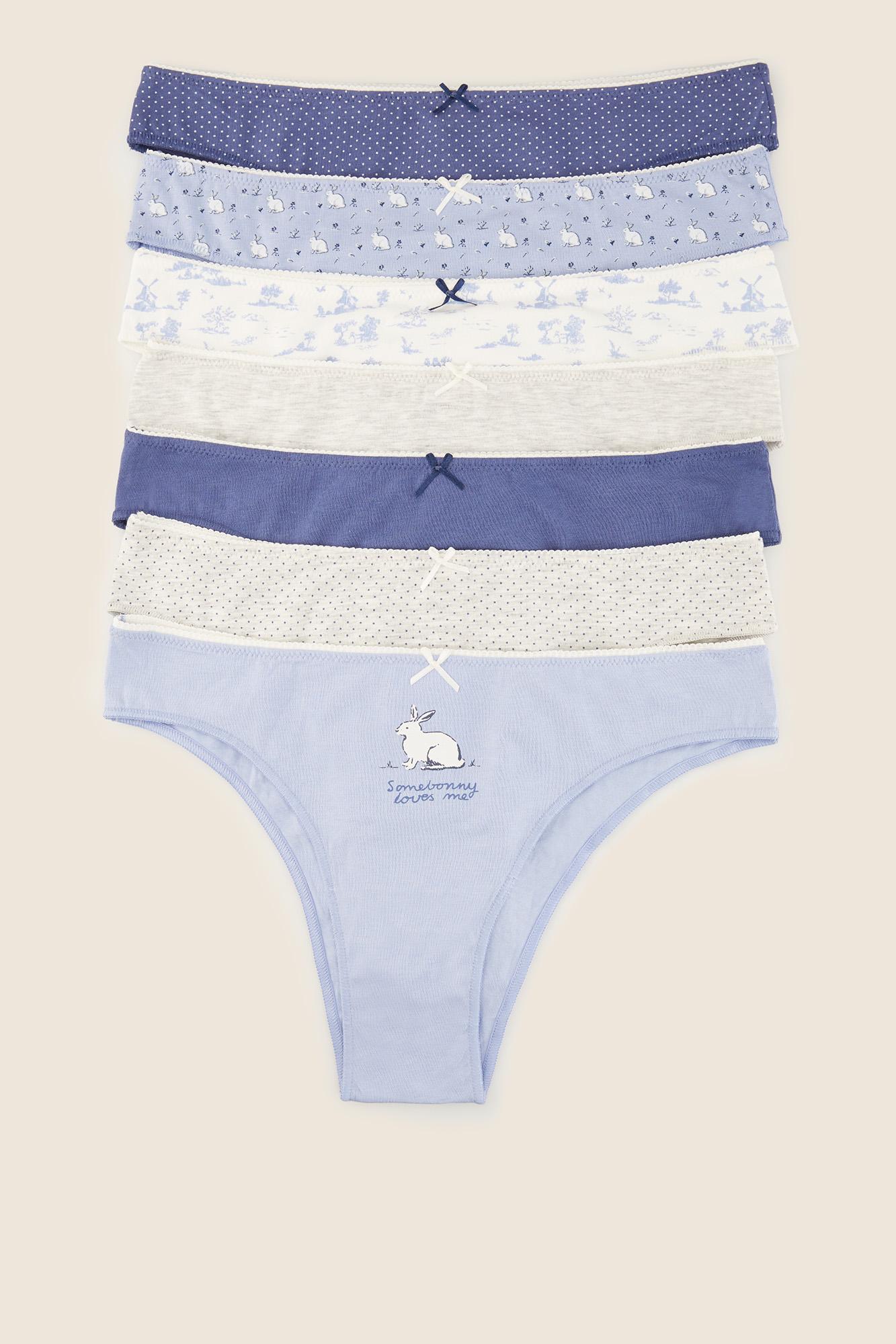 Pack 7 braguitas brasileñas tonos azules