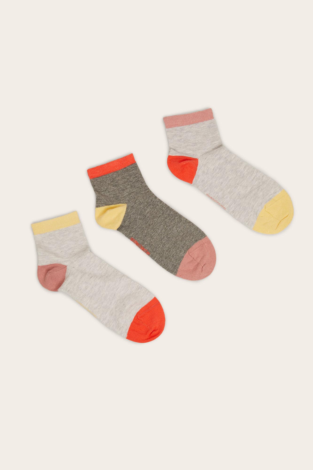 Pack de 3 calcetines cortos
