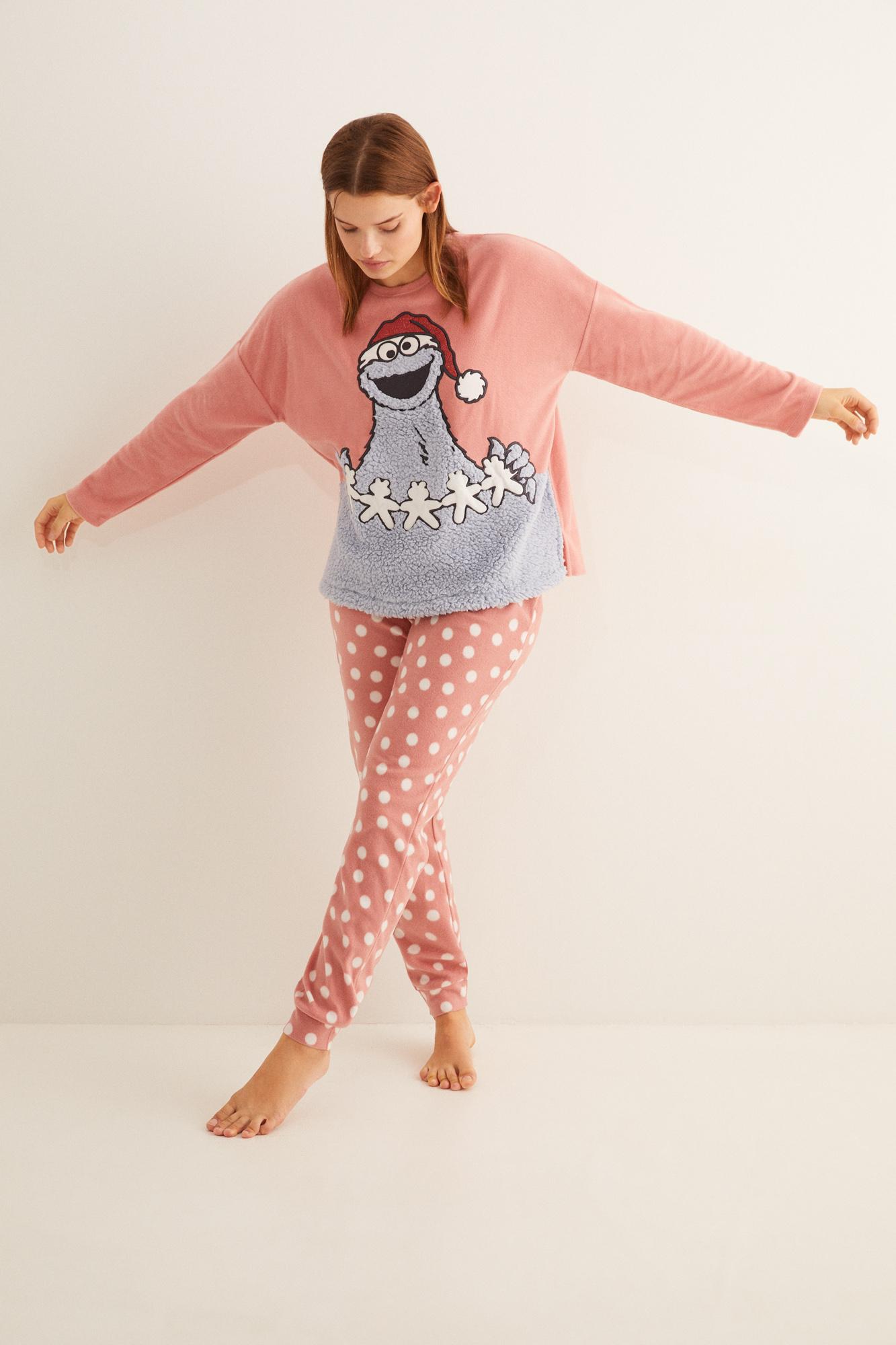Pijama largo polar Triki rosa