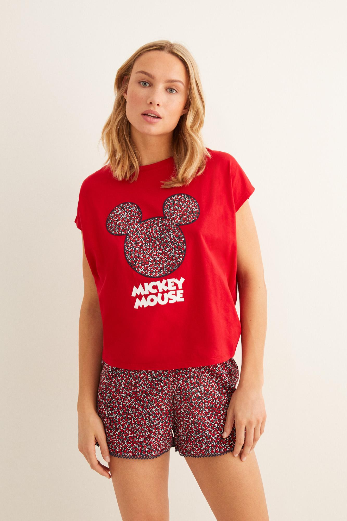 Pijama corto Mickey floral