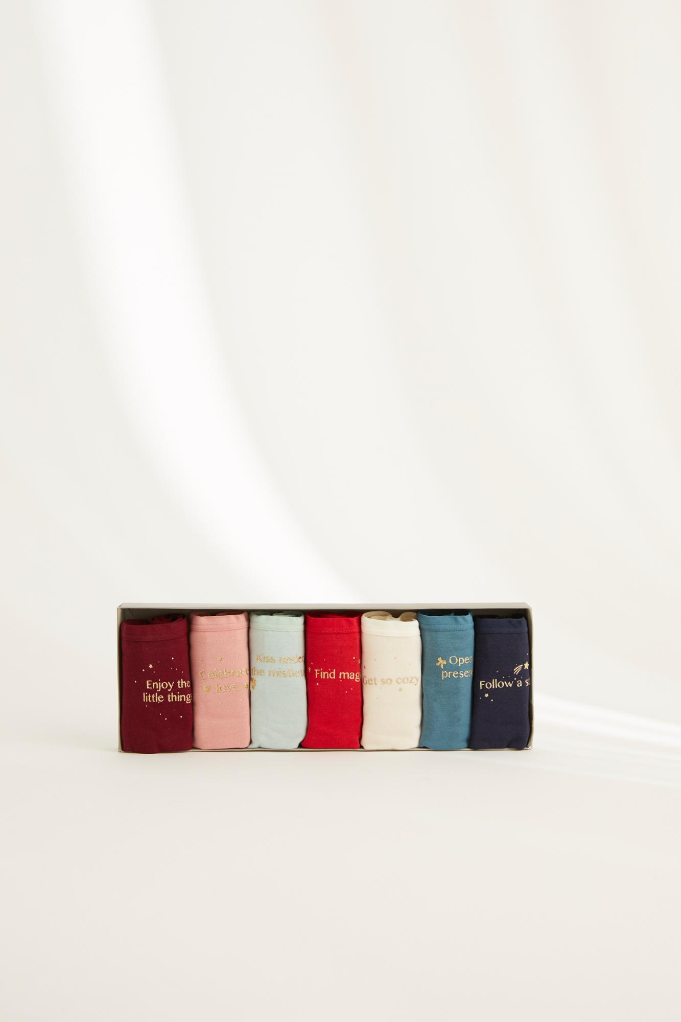 Pack 7 braguitas clásicas algodón